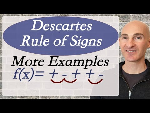 Descartes Rule of Signs Examples