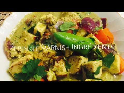 Haryali Paneer Tikka Curry / Paneer Tikka Recipe