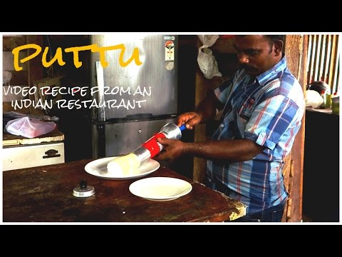 Puttu // Whole wheat flour roll with coconut // Authentic Indian recipe // Special Kerala breakfast