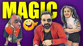 Funny Magic Tricks with Guneet and Brody | Family Kids and Dog Videos | Harpreet SDC