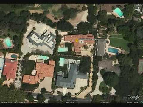 Miley's House on Google Earth (Former)