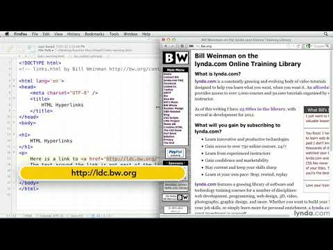 HTML tutorial: How to create a hyperlink | lynda.com