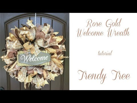 2017 Rose Gold Welcome Wreath Tutorial by Trendy Tree