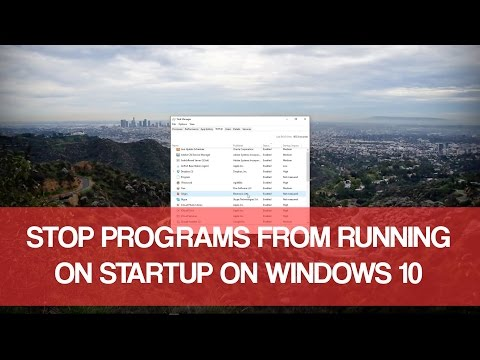 Stop Programs From Running At Startup Windows 10