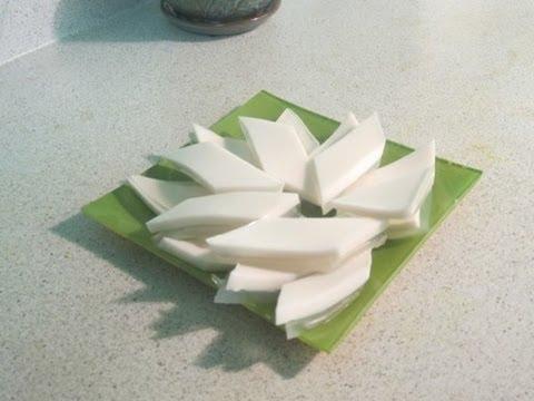 How to make coconut water jello (Barfi)