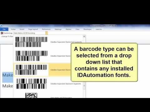 How to Create Barcodes in Microsoft Word using Barcode Fonts and Microsoft Office Add-In