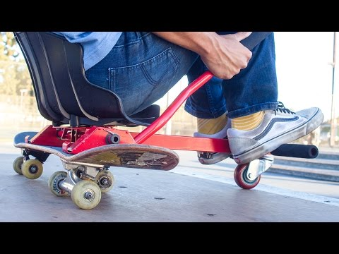 THE GO KART SKATEBOARD?!