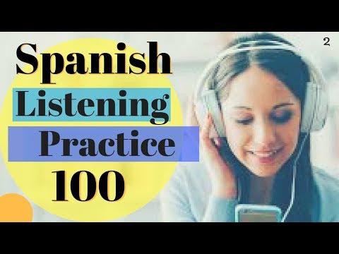 Learn Spanish \\ 100 Common Words In Context Improve Spanish Listening // Audio English/Spanish