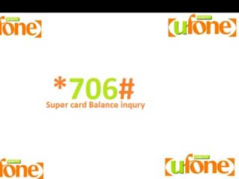 super card ufone balance check code