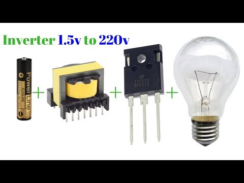 how to make inverter 1.5v to 220v simple circuit new technology exhibition