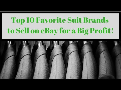 Top 10 Favorite Men's Suit Brands to Sell on eBay for a Big Profit!