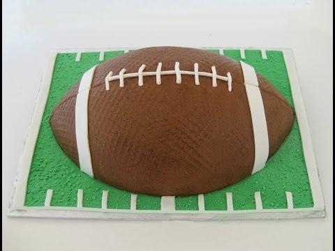 Football Cake: Buttercream and Fondant