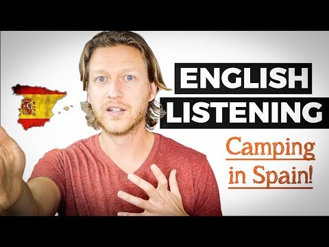 English Listening Practice: Our Camping Trip in Spain 🇪🇸 - Learn New Phrases!
