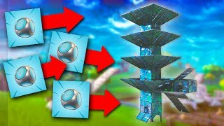 WE STACKED FOUR OF THEM! *PORT-A-FORT TROLLING!*   Fortnite Battle Royale