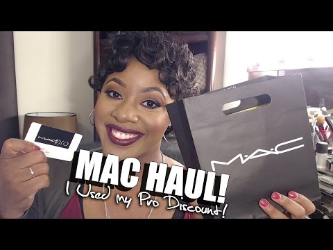 MAC COSMETICS HAUL | I USED MY PRO 40% OFF DISCOUNT