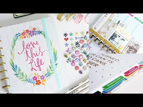 My Happy Planner Set Up, DIY Planner Band & Dashboard, Shaker, Laminate Tabs | Charmaine Dulak