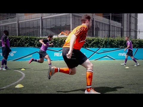 How to improve strength, balance and agility   Soccer training drill   5-a-side