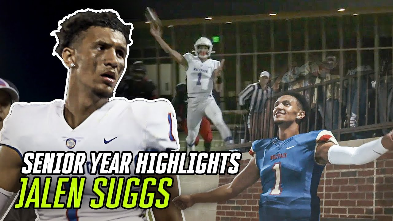 Jalen Suggs Senior Highlights Go CRAZY! Basketball Star DOMINATES Last Football Season EVER 😤