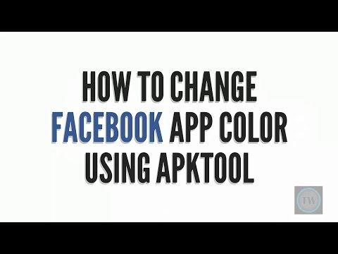 How to change Facebook app color using ApkTool