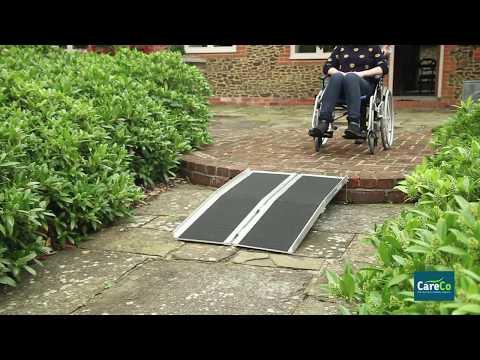 Multi-Fold Economy Wheelchair Ramp with Grip Surface