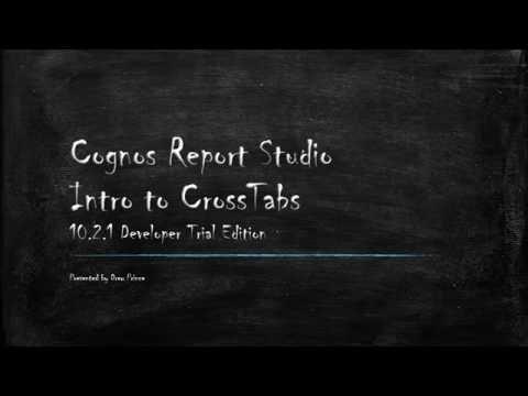Cognos Report Studio Crosstabs