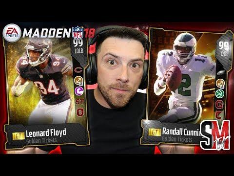 Day 6! Golden Ticket Randall Cunningham & Leonard Floyd - Madden NFL 18
