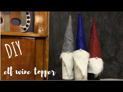 DIY Elf Wine Bottle Topper