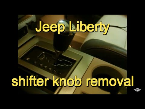 2008 Jeep Liberty automatic shifter knob removal
