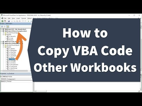 How to Copy or Import VBA Code to Another Workbook