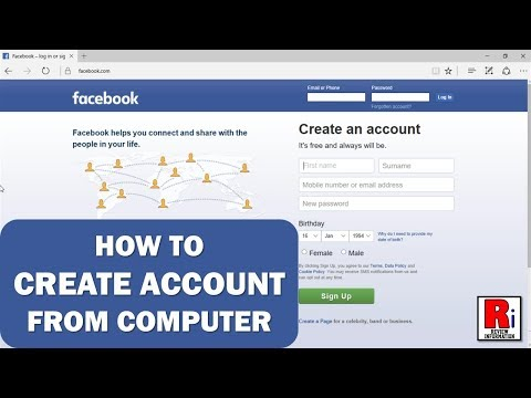 HOW TO CREATE FACEBOOK ACCOUNT FROM COMPUTER