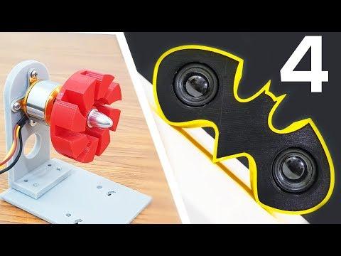 4 INCREDIBLE 3D Printed Things - My Designs Compilation Life Hacks