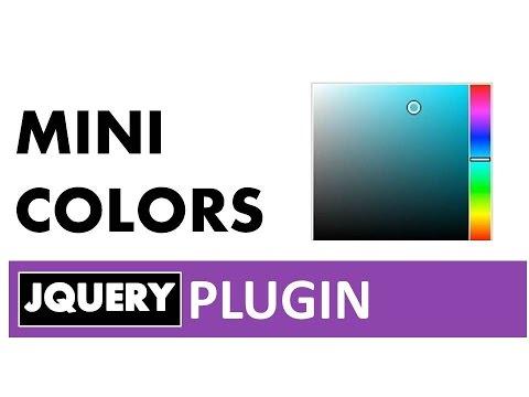 Selector de color(picker color) con jQuery minicolors (selector de color sencillo, rápido y efecivo)