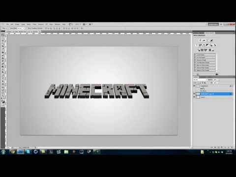 How to make a Minecraft 3D Text in Photoshop
