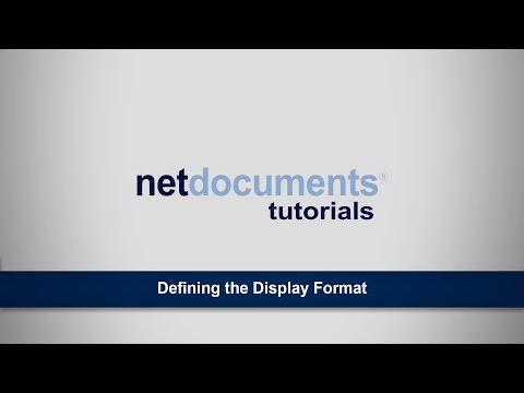 Defining The Display Format | ndTutorials