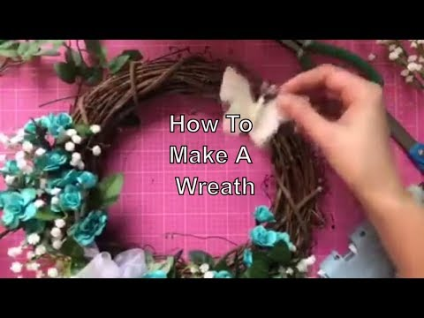 How To Make An Easy DIY Floral Wreath Using Dollar Store Supplies