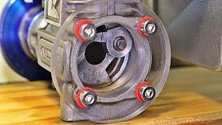 Nitro Engine Visible Crankshaft Spinning at High Speed!