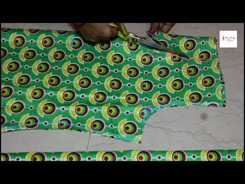 Kurti /  Kameez / Suit cutting Step by Step Very Easy method in hindi, how to make high neck kurti