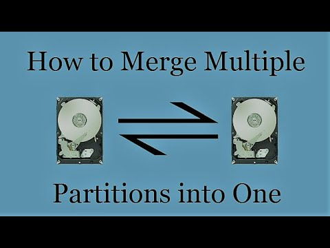 How To Merge Multiple Disk Partitions Into One     Merge Two Disk Partitions