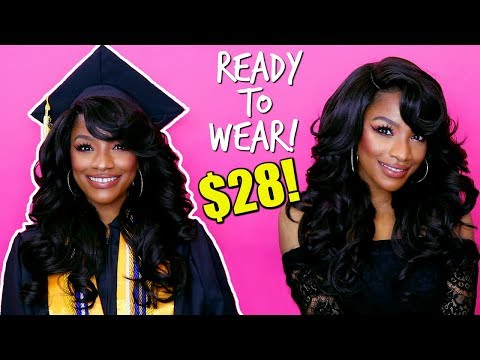 $28 Affordable Lace Front Wig! These Bangs are 🔥 #WIGWEEK 2