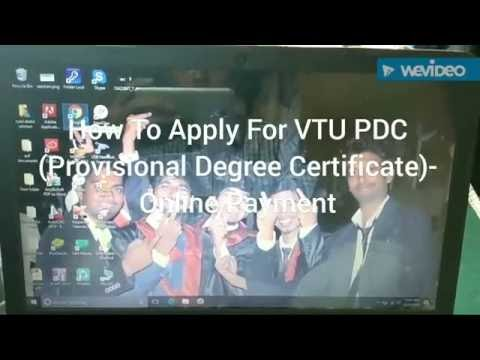 HOW TO APPLY VTU PROVISIONAL DEGREE CERTIFICATE(PDC)- ONLINE PAYMENT GUIDE