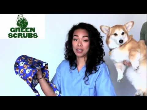 How to Put on the Super Tie Scrub Cap from Green Scrubs