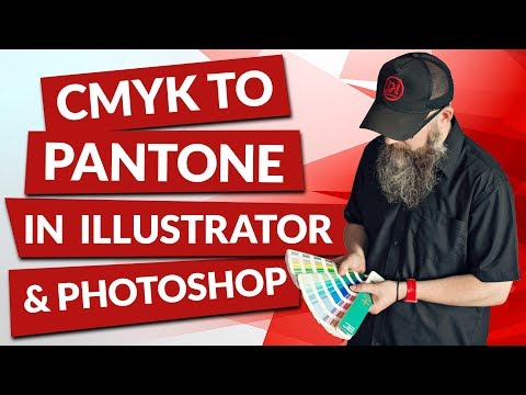 How to convert CMYK to Pantone in Adobe Illustrator and Photoshop