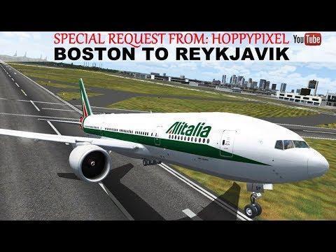 [FSX] LONG HAUL FLIGHT BOSTON (KBOS) TO REYKJAVIK (BIKF) | ALITALIA B777-200LR | IVAO LIVESTREAM
