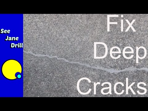 How to Fix Deep Cracks in Concrete w Slab