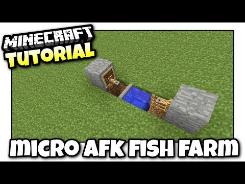 Minecraft - AFK FISH FARM [ Redstone Free ] Tutorial - Xbox / PS4 / PE /  PS3 / Switch
