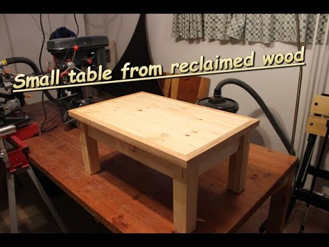 Woodworking: Toope's table from reclaimed wood.
