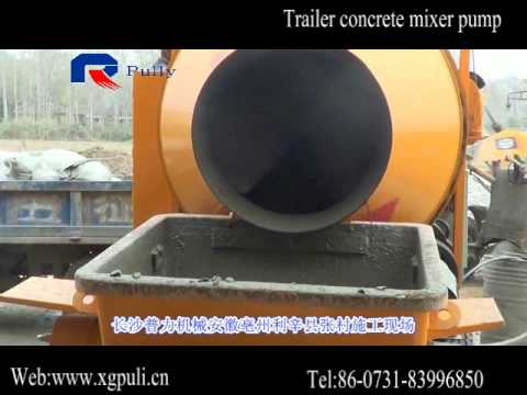 trailer concrete mixer pump Pully machinery