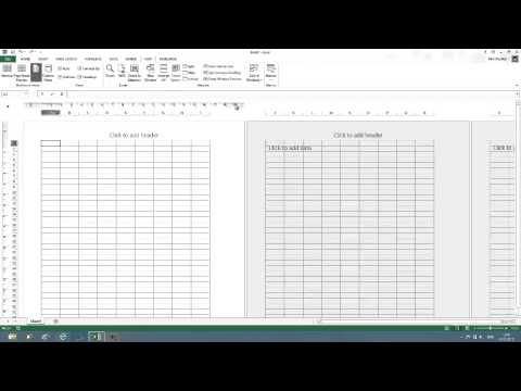 Change default ruler units in Excel 2013