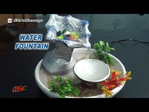 DIY How to make waterfall With Waste Diya | Easy TableTop Water Fountain | JK Arts 882