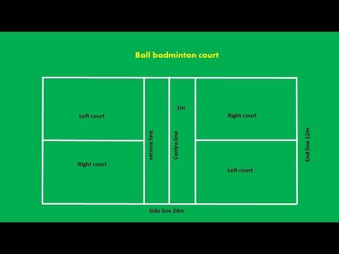 Ball badminton court easy marking plan